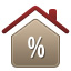 icon house percent sign