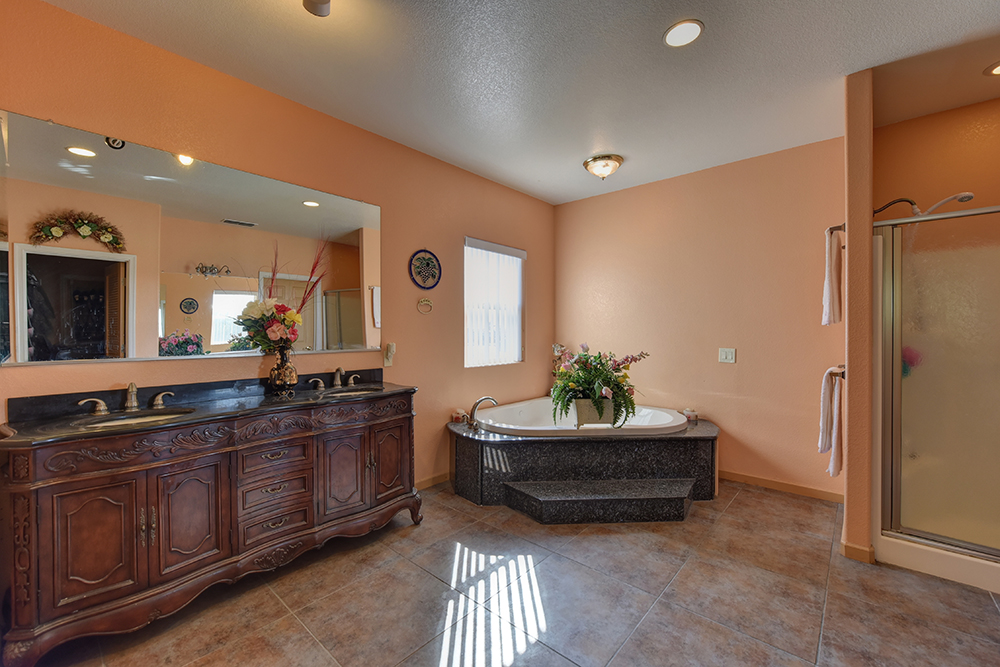 Sutter Buttes home master bathroom